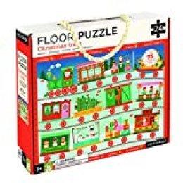 Petit Collage Floor Puzzle - Tren de navidad