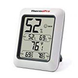 ThermoPro TP50 Termómetro Higrometro Digital Interior / Termohigrómetro Medidor para Habitacion Temperatura y Humedad Monitor