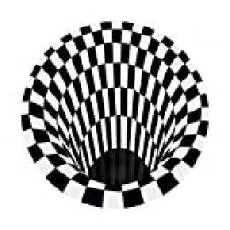 Docooler Alfombra Redonda 3D Space, a Cuadros Vortex Optical Illusions Alfombra Antideslizante, para Sala de Estar, Comedor, Dormitorio, Cocina
