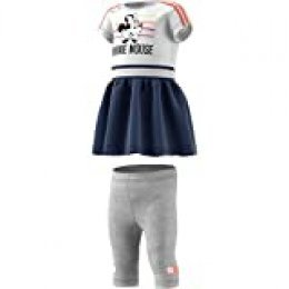 adidas Inf Dy Mm Sum Chándal, Unisex bebé, Top:White/Semi Coral/Tech Indigo Bottom:Medium Grey Heather/White, 9-12M