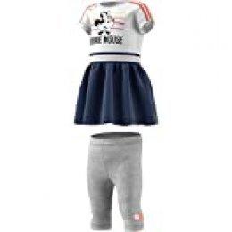 adidas Inf Dy Mm Sum Chándal, Unisex bebé, Top:White/Semi Coral/Tech Indigo Bottom:Medium Grey Heather/White, 9-12M