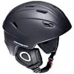 Ultrasport New Race Edition Casco de Snowboard, Unisex, Negro, XS