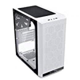 SilverStone SST-PS15W-G - Precision Estuche para computadora Micro Tower, Micro ATX, vidrio templado, blanco