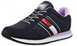 Tommy Hilfiger Wmns Casual Retro Sneaker, Zapatillas para Mujer