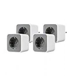 Osram Smart+ Plug, Zigbee enchufe conmutable, para el control de luz en su Smart Home, directamente compatible con Echo Plus y Echo Show (2ª Gen. ), compatible con Philips Hue Bridge, 4 unidades