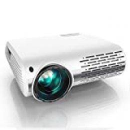 Proyector, YABER 7000 Lúmenes Proyector Full HD 1920x1080P Proyector Cine en Casa Soporta 4K y Sonido HiFi, Ajuste Digital 4D y Función de Zoom, Proyector LED con Tecnología de Nueva Generación