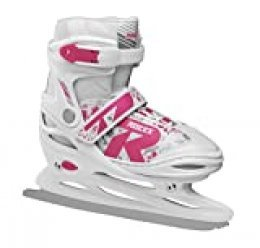 Roces Niños Jokey Ice 2.0 Girl Ajustable Patines, Infantil, 450697, White-Fuchsia, 38-41