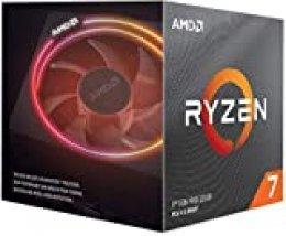 AMD Ryzen 7 3700X, Procesador con Disipador de Calor Wraith Prism (32 MB, 8 Núcleos, Velocidad de 4.4GHz, 65W)