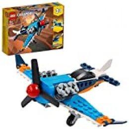 LEGO Creator - Avión de Hélice, Set 3 en 1 de Juguete para Construir un Jet, un Helicóptero y un Avión, Recomendado a Partir de 7 Años (31099)