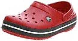 Crocs Crocband U, Zuecos Unisex Adulto, Rojo (Pepper), 43-44 EU