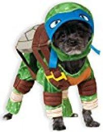 Disfraz Oficial de Perro Leonardo, Tortugas Ninja Mutantes Adolescentes Rubie'S, Talla XL