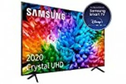"Samsung Crystal UHD 2020 50TU7105- Smart TV de 50"" con Resolución 4K, HDR 10+, Crystal Display, Procesador 4K, PurColor, Sonido Inteligente, Función One Remote Control y Compatible Asistentes de Voz"