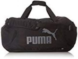 Puma Gym Duffle Bag M Bolsa, Unisex Adulto, Negro Negro, Talla única