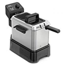 Tefal Easy Clean & Store - Freidora de aceite 3.5 litros/1 kg comida, con depósito de aceite reutilizable, 190 C, termostato ajustable, cesta opción escurrido, resistencia sumergida, fácil limpieza