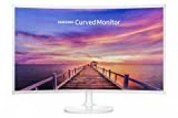 "Samsung C32F391 - Monitor Curvo de 32"" (Full HD, 4 ms, 60 Hz, LED, 16:9, 3000:1, 1800R, 250 cd/m², 178°, HDMI, Base Redonda) Blanco"