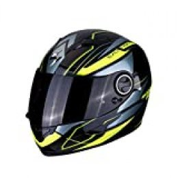 Scorpion NC Casco per Moto, Unisex-Adult, Negro/Fluo, L