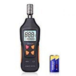 Tacklife HM03 - Termómetro e higrómetro con retroiluminación LCD, rango de medición de temperatura -50 °C ~ 60 °C (-58~140 °F) humedad del aire 0% -99% RH