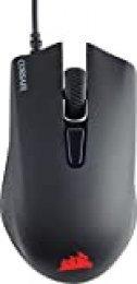 Corsair Harpoon RGB Ratón Óptico para Juegos, 6 000 PPP Óptico Sensor, Peso Ligero, 6 Botones Programables, Retroiluminación LED RGB, color Negro
