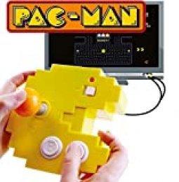 Bandai Pac-Man Connect & Play 38886 Consola amarilla, 12 juegos de arcade retro integrados