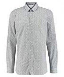 HUGO Elisha02 Camisa, Blanco (Open White), 44 (Talla del Fabricante: 42) para Hombre