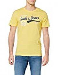 Jack & Jones Jjelogo tee SS O-Neck 2 Col Ss20 Noos Camiseta, Gota De Limón, XL para Hombre
