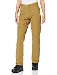 The North Face W Exploration - Pantalones Convertibles para Mujer, Color Caqui
