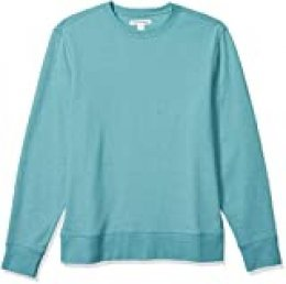 Amazon Essentials Sudadera de Manga Larga Ligera de Felpa Francesa con Cuello Redondo Athletic-Sweatshirts, Verde Azulado, US S (EU S)