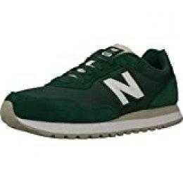 New Balance de los Hombres Zapatillas 527 Suede, Verde, 42 EU