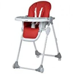 Safety 1st Looky Trona para bebé evolutiva y reclinable en 3 posiciónes, ajustable en altura, plegable compacto con 4 ruedas, color Warm Grey