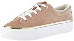 Tommy Hilfiger Cosy Lace Suede Sneaker, Zapatillas para Mujer