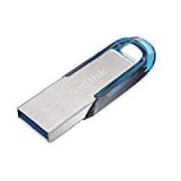 SanDisk Ultra Flair Memoria Flash USB 3.0 de 32 GB con hasta 150 MB/s de Velocidad de Lectura, Color Azul