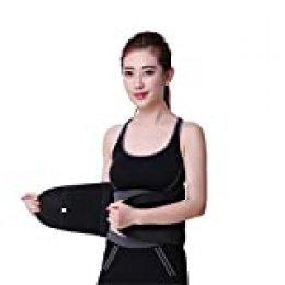 Charminer Cinturón Lumbar Soporte Lumbar para la Espalda Ayuda de la Cintura para Aliviar El Dolor de Espalda y Prevenir Daños, Faja Ayuda a Aliviar Dolor y Lesiones, Hernia de Disco, Unisex Negr