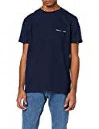 Tommy Hilfiger TJM Logo Pocket tee Camiseta, Azul (Blue Cbk), Large para Hombre