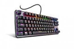 KROM NXKROMKRNLTKL Kernel TKL - Teclado Gaming Mecánico Compacto RGB, Color negro