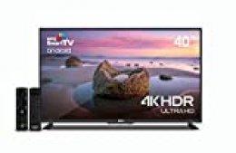 "Televisor NPG LED 40"" 4K Smart TV Android+Teclado QWERTY WiFi TDT2 H.265 UHD PVR"