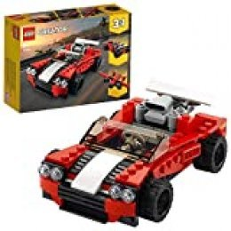 LEGO Creator - Deportivo, Juguete 3 en 1 de para Construir un Descapotable, un Coche de Aarreras y un Avión, Recomendado a Partir de 7 Años (31100)