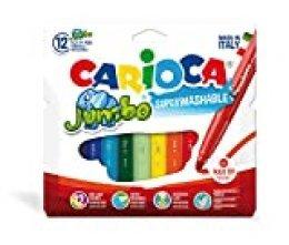 Carioca - Bolsa de cartón con 12 rotuladores de colores Jumbo (40565)