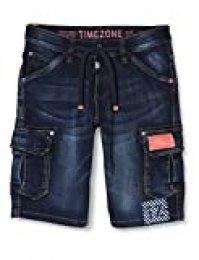 Timezone Regular RykerTZ Pantalones Cortos, Azul (Second Hand Wash 3898), 28W para Hombre
