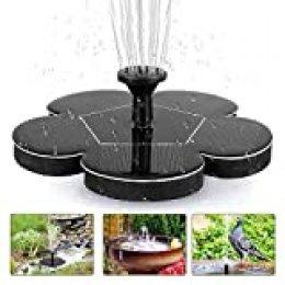 tronisky - Fuente solar, bomba de estanque, 1,4 W, para exteriores, bomba de agua solar con 4 boquillas, fuente flotante para jardín, piscina, depósito de peces
