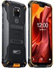 DOOGEE S68 Pro Teléfono Móvil Libre Resistente, Helio P70 Octa Core 6GB + 128GB, 4G IP68 Smartphone Antigolpes Android 9.0, 6300mAh, Cámara 21MP+16MP, 5.9 Inch FHD+, NFC Carga Inalámbrica, Naranja