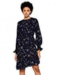 Marca Amazon - find. Vestido Asimétrico de Flores Mujer, Multicolor (Multicoloured), 38, Label: S