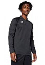 Under Armour Challenger III Midlayer, Camiseta de Hombre para Hacer Deporte, indispensable Ropa de Deportes Hombre, Negro (Black/White (001)), M