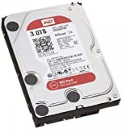 "Western Digital Red 3TB SATA 6 GB/s - Disco Duro (Serial ATA III, 3000 GB, 8,89 cm (3.5""), 0,6W, 4,4W, 4,4W)"