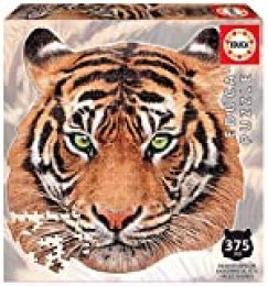 Educa Borras - Serie Animal Face Shaped, Puzzle 375 piezas, Tigre (18475)