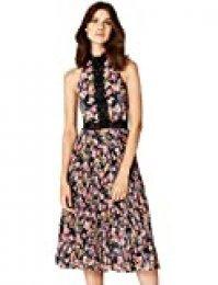 Marca Amazon - TRUTH & FABLE Vestido de Flores con Encaje Mujer
