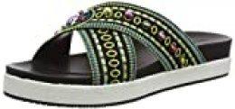 Desigual Shoes Nilo Beads, Sandalias con Plataforma para Mujer, Negro 2000, 39 EU