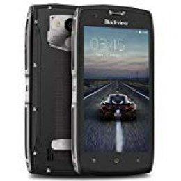 Movil Resistente, Blackview BV7000 Móvil IP68 de 5.0 FHD Pulgadas, Cámaras 8MP+5MP, Batería de 3500mAh, 2GB RAM +16GB ROM Android 7.0 Smartphone, NFC, Dual SIM, Huella Dactilar, OTG - Gris