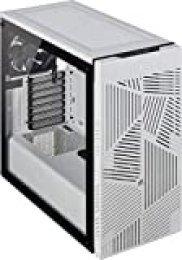 Corsair 275R Airflow - Cristal Templado Chasis Semi-torre ATX Inteligente Gaming (Paneles Lateral de Cristal Templado, Tres Ventiladores de Refrigeración de 120mm Incluidos), Blanco