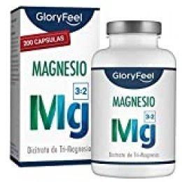 Citrato de Magnesio - 200 Cápsulas Veganas - 2400 mg Citrato de Magnesium por Dosis Diaria - Hecho en Alemania
