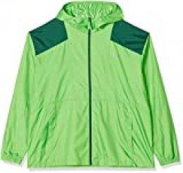 Columbia Flashback, Chaqueta cortavientos, Hombre, Verde (Green Boa, Rain Forest), XXL